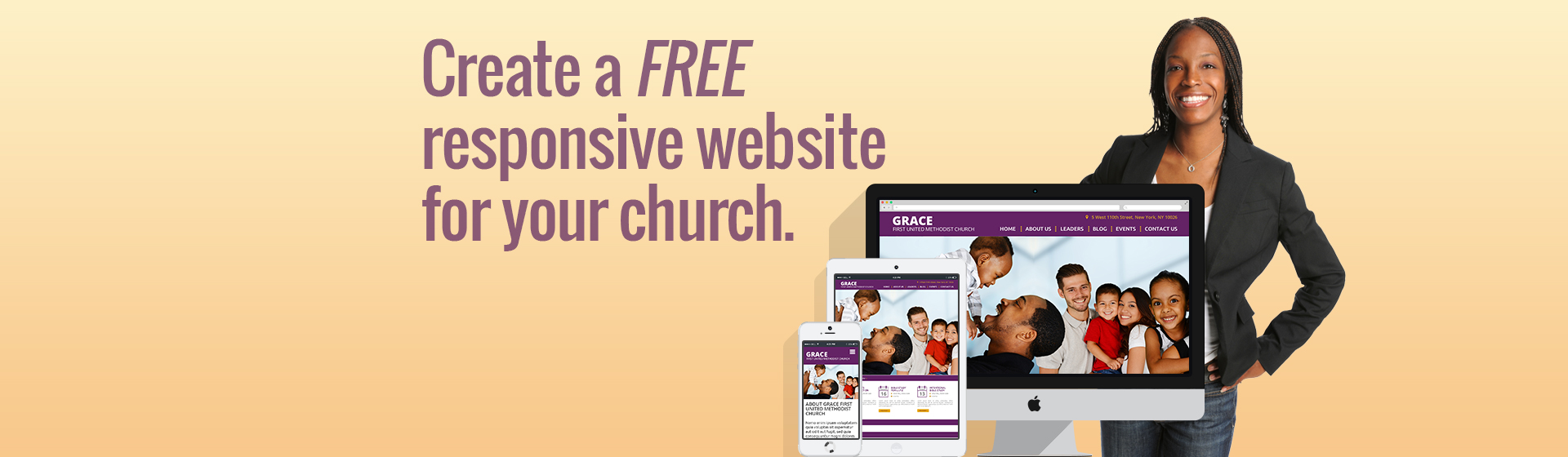 free church websites